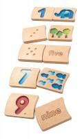 Zählen erlernen & erfühlen auf Englisch, Holz