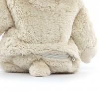 Vorschau: XL Kuscheltier & Wärmekissen Hase Dinkel