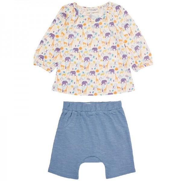 Sommerliches Baby Langarmshirt + Babyshorts