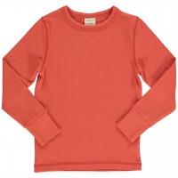Shirt langarm breite Armbündchen orange