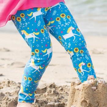 Leggings Einhörner blau