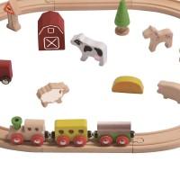 Vorschau: Holz Eisenbahn Set Bauernhof 25 Teile
