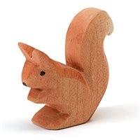 Eichhörnchen sitzend Holzfigur 4,7 cm hoch