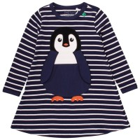 Warmes gestreiftes Pinguin Kleid navy