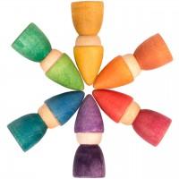 Rainbow Tomtens – 6 bunte Holzfiguren ab 12 Monaten