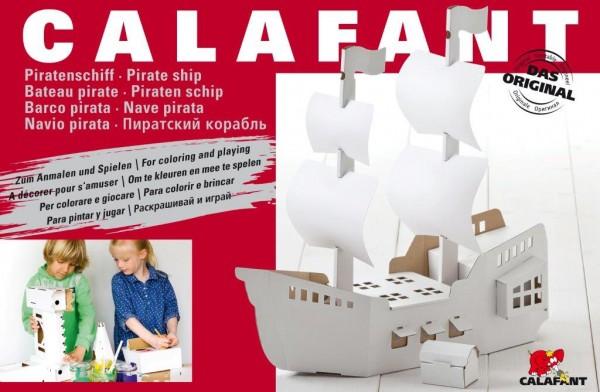 Bestseller! Großes Piratenschiff zum Stecken, malen & spiele