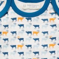 Vorschau: Rentier Baby Body langarm - dehnbarer Qualität ohne Elastan