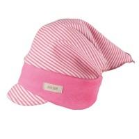 Kopftuch mit elastischem Stirnband rosa Ringel