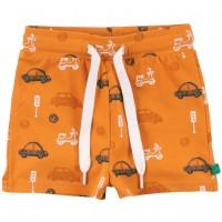 Leichte Shorts Autos Alloverprint in karamell
