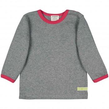 Strukturiertes Shirt langarm in grau