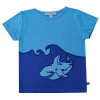 Hai Shirt kurzarm Aufnäher blau