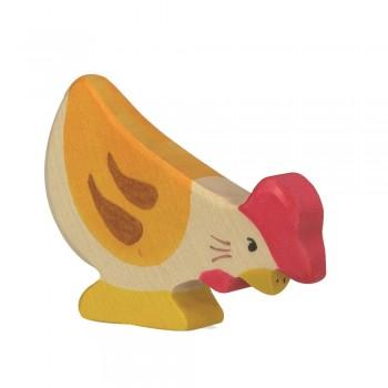 Holzfigur Huhn - auf dem Bauernhof