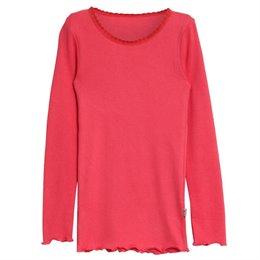 Mädchen T-Shirt in feiner Rip-Optik