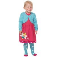 Vorschau: Bio Kinderstrumpfhose von frugi blau mit Punkten