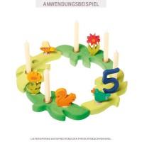 Vorschau: Grimms Stecker Tulpe gelb Deko für Geburtstagsring