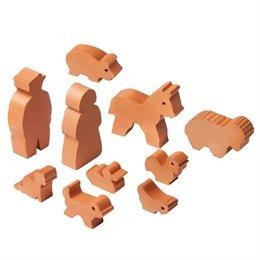 Zubehör Steinbaukasten 12 Figuren