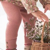 Warme Strickhose in rosa