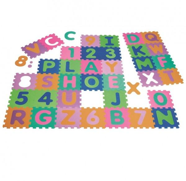 Puzzlematte 36-teilig - 0 bis 9 & A bis Z
