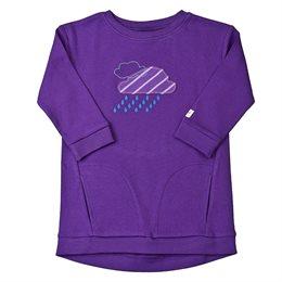 Warmes Kleidchen mit Taschen lila