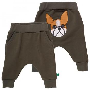 Sweat Krabbelhose khaki Hund