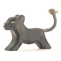 Panther klein laufend Holzfigur 5 cm hoch