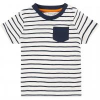 Shirt kurzarm Streifen in navy