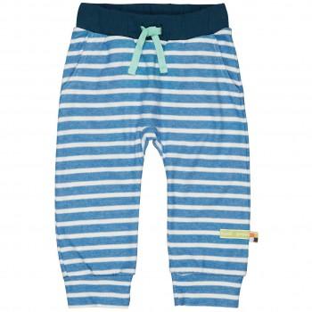 leichte Jogginghose Ringel Bündchen blau