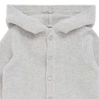 Vorschau: Strickjacke Kapuze weit geschnitten grau