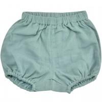Luftige, lockere Musselin Shorts moos-grün