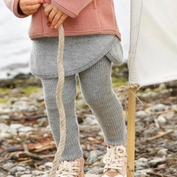 Graue Woll Leggings warm und mitwachsend