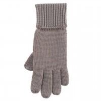 Strick Fingerhandschuhe grau-braun