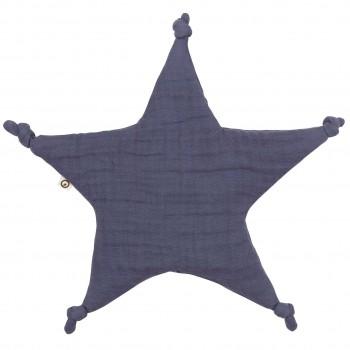 Schmusetuch Sternform lila