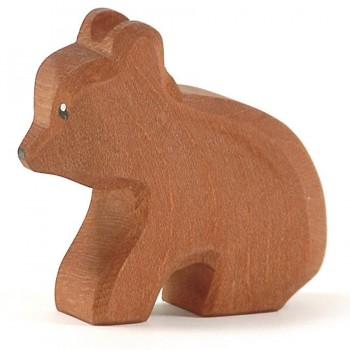 Kleiner Bär Holztier sitzend 6cm hoch