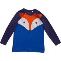 Vorschau: Cooles Langarmshirt mit Druckknopf Fuchsapplikation