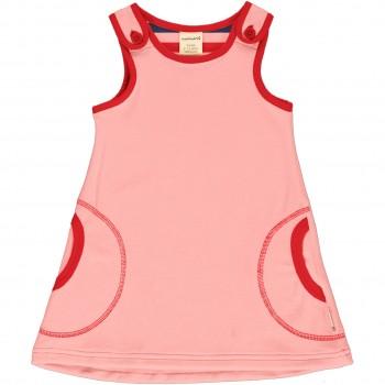 Weiches Nicki Kleid ohne Arm in rosa