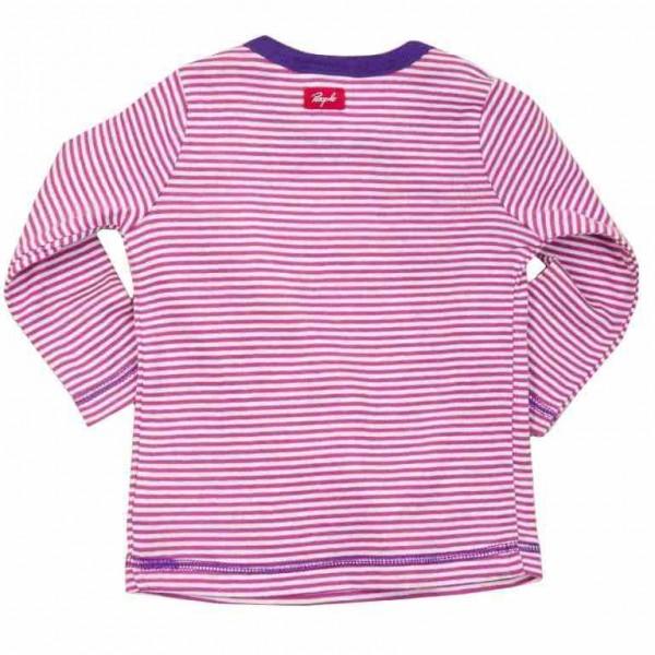 Öko Baby- & Kindershirt feine Rippe - pink geringelt