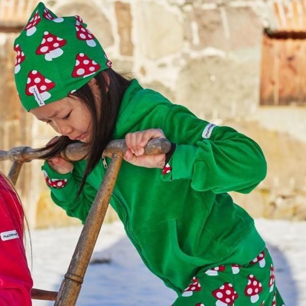 Warme Velours Jacke - kuschelig und warm grün