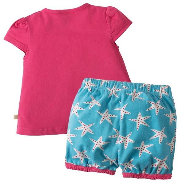 Set T-Shirt mit Shorts - Seepferdchen