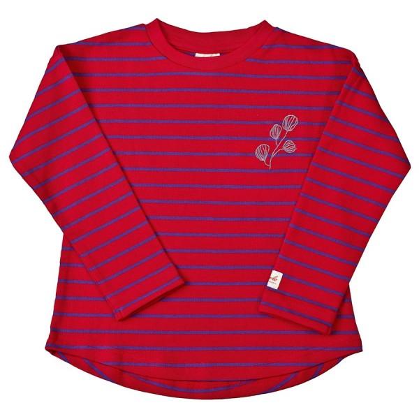 Langarmshirt rot mit Stickerei