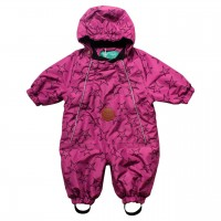Baby Schnee-Overall Sterne pink-violet