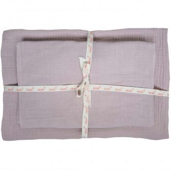 Kinder Bettwäsche Set sanftes rosa 100x135 cm