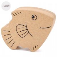 Babyrassel aus Holz ab 6 Monate – Fisch