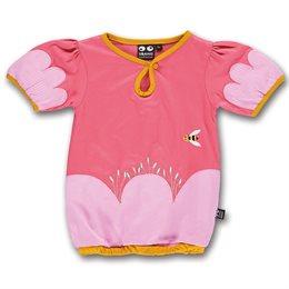 Weit geschnittenes Mädchen T-Shirt Gummibund