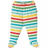 Babyhose mit Fuß in Rainbow-Design