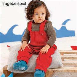 Baby Pullover Melange Schlupfkragen