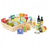 Verpackungen für Kaufladen mit Körbchen – 21 St. Bio Artikel