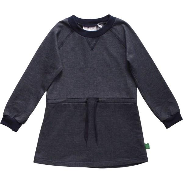 Stretch Mädchenkleid langarm aus softem Jersey Jeansoptik