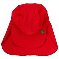 Sonnen- Bademütze mit breitem Nackenschutz - rot