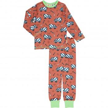 Schlafanzug langarm braun Zement-Truck
