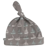 Babymütze mit Knoten Zipfelmütze - Boote